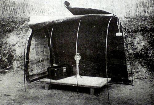 Lều và chõng tre cho sĩ tử ngồi làm bài - ảnh tư liệu
